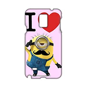 3D Case Cover Cute Minion With Mustache Phone Case for Samsung Galaxy Note4