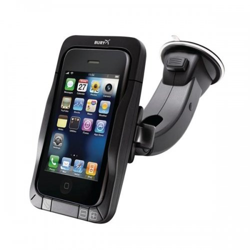 BURY 1-79-4003-24 MOTION Series Portable Bluetooth Hands Free Car Kit and Charging Cradle for  iPhone 4/4S - Bluetooth Speakerphone - Retail Packaging - Black by Bury