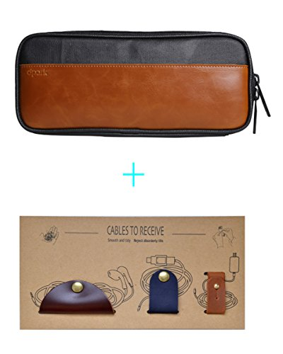 Beschan Leather Electronics Accessories Organizer product image
