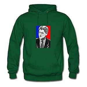 Fashionalble Designed Green Women Bill Clinton Long-sleeve Sweatshirts X-large