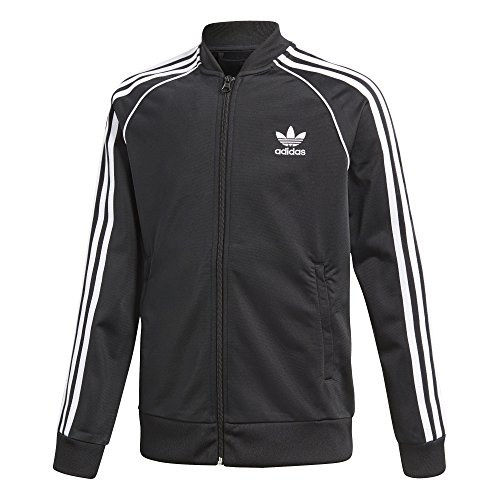 adidas Originals Boys' Big' Originals Superstar Tracktop, Black, ()