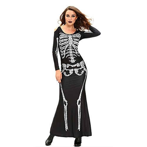 Sexiest Girl Halloween Costumes (Slocyclub Womens Sugar Skull Adult Halloween Jumpsuit Costume, onesize, Style-02)