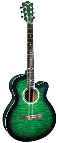 INDIANA Madison MAD-QTGR Acoustic-Electric Guitar - Green Sunburst