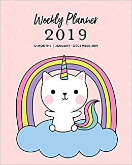 Weekly Planner 2019, 12 Months, January - December 2019 ...