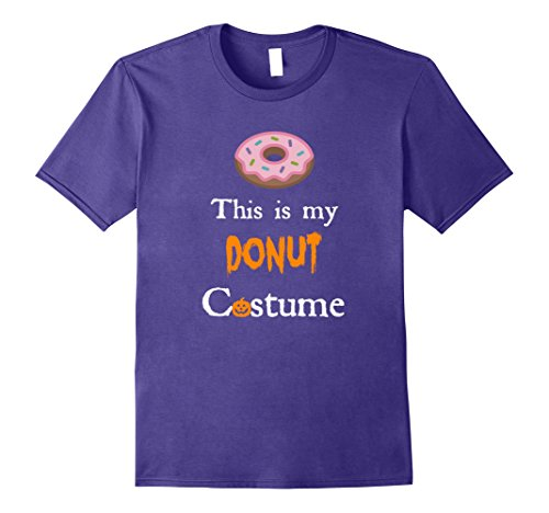 Lover Halloween Costumes (Mens Donut Halloween Costumes for Doughnut Lovers T Shirt XL Purple)