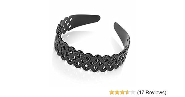 Wide Black Three Row Plastic Aliceband Headband Hair Accessory Hair Band