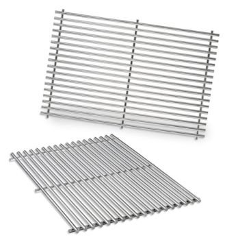 Weber 7528 Stainless Steel Cooking Grates (19.5 x 12.9 x 0.6) (Weber 330 Grills)