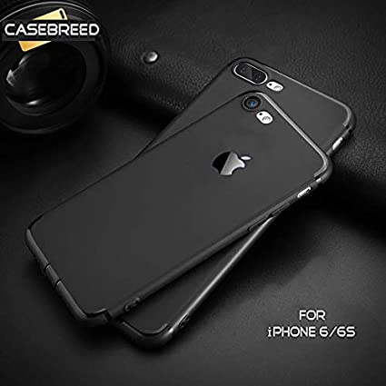 newest collection 26f45 66829 Accessories Innovator Casebreed Soft Silicon Logo Cut Back Cover with Anti  Dust Plugs for iPhone 6/6S (Black)