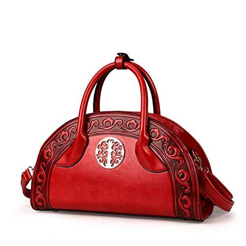 Borsa Red Stile Tracolla Rilievo Etnico A 20cm Blu In Crossbody 33 colore Con 11 Dimensione Shopping ZEIdYq