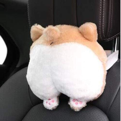 - ANJUU Corgi Butt Car Neck Pillow Cute Corgi Neck Support Animal Pillows Stuffed for Travel Toy Gifts