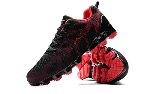 Trial Breathable Training Fitness Shoes 8 Mens US D M Running Flyknit Sneakers Red Sports BpqqIaw
