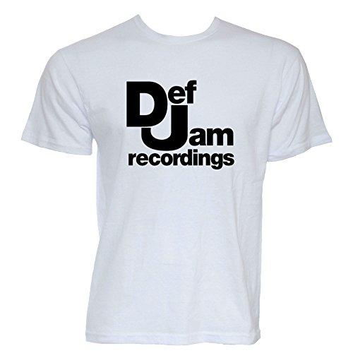 Def Jam Recordings Tshirt (White, Medium)