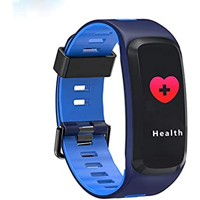 HHCUIJ Smart Bracelet Waterproof Blood Pressure Oxygen Heart Rate Monitor Wristband Fitness Runway Pedometer Smart Bracelet Wristband Estimated Price £57.00 -