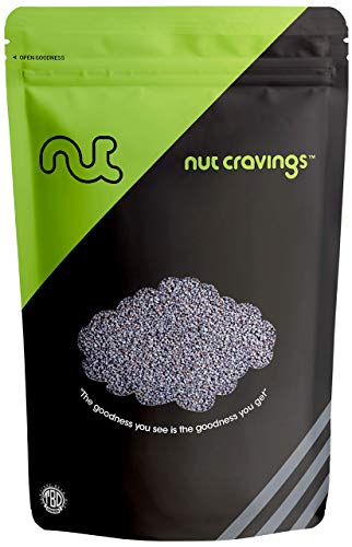 Nut Cravings - Whole Blue England Poppy Seeds (1 Pound) - Country of Origin United Kingdom - 16 Ounce