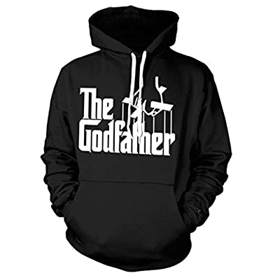 Hot Official The Godfather Logo Black Hoodie Hooded Sweater hot sale