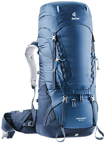 - Deuter Aircontact 55 + 10 Backpacking Pack, Midnight Navy