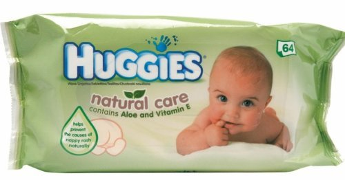 Huggies Baby Wipes Natural Care with Aloe Vera, 56 Count (Pack of 4)