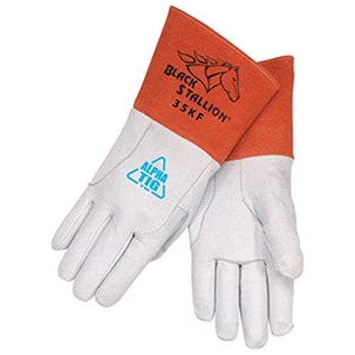 Black Stallion 35K Premium Grain Kidskin TIG Welding Gloves, Small by Black Stallion