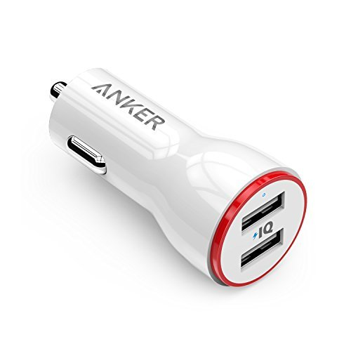 Anker 24W Dual USB Car Charger, PowerDrive 2 for iPhone X / 8/7 / 6s / 6 / Plus, iPad Pro/Air 2 / Mini, Note 5/4, LG, Nexus, HTC and More by Anker