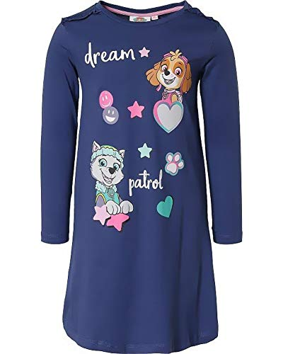 Paw Patrol Meisjesnachthemd, behaaglijke pyjama, jumpsuit, pyjama, Skye + Everest roze + marineblauw, maat 98, 104, 110…