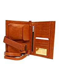 ASHLIN Travel Clutch Organizer - Tan | 100% Tuscany Leather | T9931-18-08