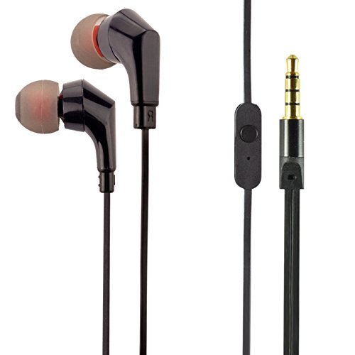 SOWND Audio - High Fidelity [HD] 3.5MM Earphones - Made for iPhone | iPod | iPad | Android Smartphone | MP3 Players | Work Out | Fitness | Active Earbuds (Black)