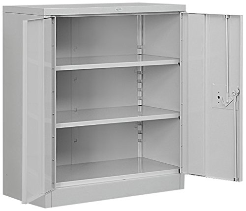 Metal Wide Cabinet - Salsbury Industries Counter Height Heavy Duty Storage Cabinet, 42-Inch by 18-Inch, Gray