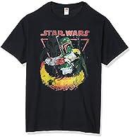 STAR WARS Mens Boba Burns T-Shirt