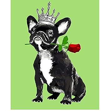 Perros encantadores para niños Husky Dog Diy Pinturas digitales Números Pintar por número Imágenes de pintura al óleo sobre algodón Kids Room Decor ...