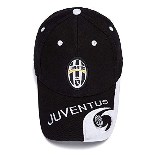 Juventus F.C. Soccer Cap Hat Embroidered Adjustable Black Baseball Cap