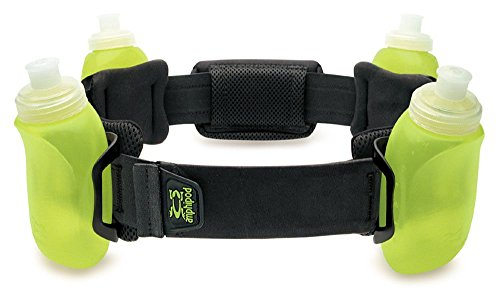 hydration waist belt/pack with bottles for water and fuel by Amphipod Black (8400 Belt)