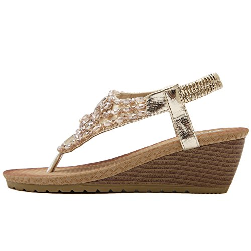 CFP ,  Damen Sling Backs Goldfarben