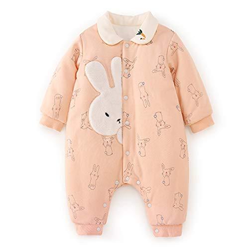 d61b15650c828 Tasurio(タスリオ) ベビー 男の子 女の子 ロンパース カバーオール 長袖 丸襟 ウサギ 可愛い 秋冬 前開き