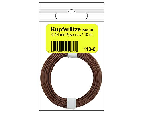 Donau Elektronik 118–8SB Single Flex Wire en Sac, Marron, 10 m 10 m Donau Elektronik GmbH Donau Elektronik _118-8SB