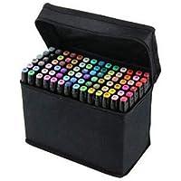 مجموعة من 80 قلم تخطيط لرسم السكتشات والمخططات والتلوين، اسود