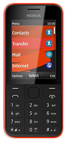 Nokia 208 Unlocked GSM 3G Cell Phone w/ 1.3 MP Camera - Red/Black
