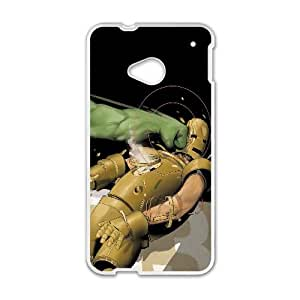 Hulk And Iron Man Comic HTC One M7 Cell Phone Case White Exquisite designs Phone Case KM4194H4