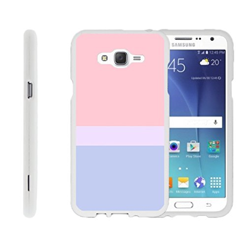 MINITURTLE Case Compatible w/ Miniturtle [Samsung Galaxy J7 Case (2015) J700 Slim Cover] [Snap Shell] 2 Piece Hard Snap On White Case Sunset Pastel