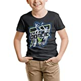 CALMFOX Toddler Girls Black T-Shirts Tee Doncic-77- Big&Tall Short Sleeve