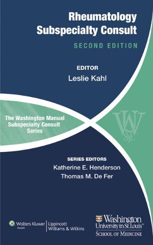 The Washington Manual of Rheumatology Subspecialty Consult - http://medicalbooks.filipinodoctors.org