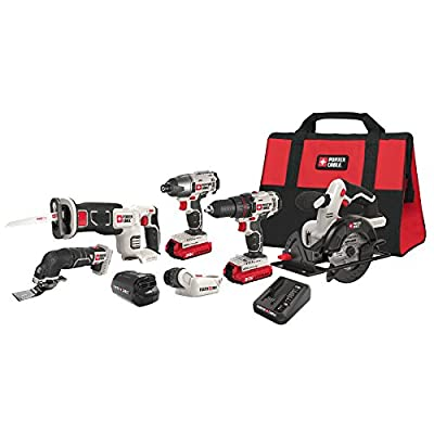 PORTER-CABLE PCCK617L6 20V MAX Lithium Ion 6-Tool Combo Kit with Free USB Device