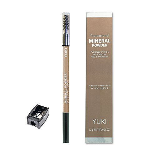 Eyebrow Pencil by YUKI | Professional Mineral Powder with Brush and Sharpener 6 colors 0.04oz (NO.2 Light - Dior.co.uk