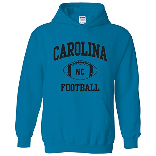 Carolina Classic Football Arch American Football Team Sports Hoodie - Small - ()