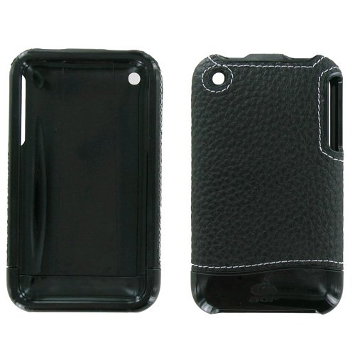 (XCITE IPHONE 3G FITTED CASE LAMBSKN BLK/WHT NIC )
