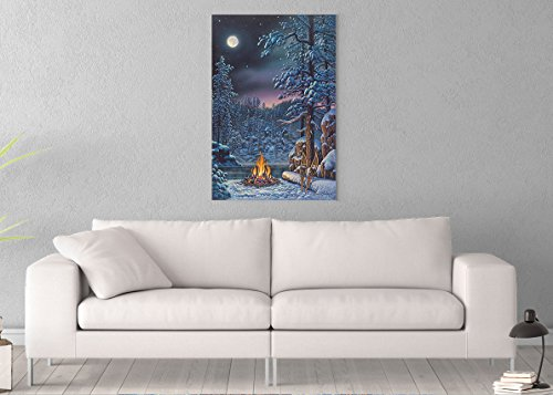 Fire & Ice Printed on 24x36 Canvas Wall Art by Pennylane