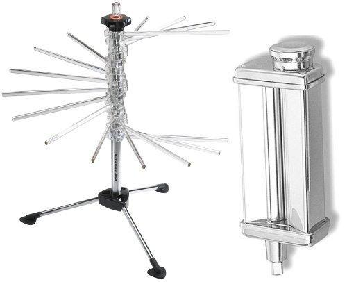 (KitchenAid KsmPSA Stand-Mixer Pasta-Roller Attachment + metal rack)
