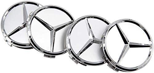 FORTEN CAR Hub Caps for Car Rims x 4 Caps 75 mm Class A B C E CLK GL M ML SLK