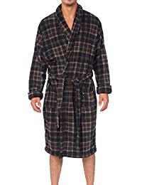 Wanted Men's Lounge Bathrobe Plush Micro Fleece with Front Pockets