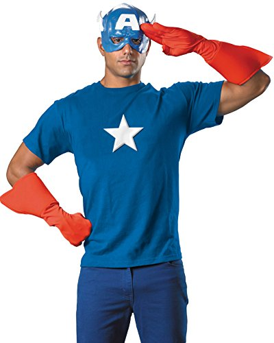Captian America Mens Theatrical Costume Kit Gloves Mask and Chest Piece for $<!--$32.95-->