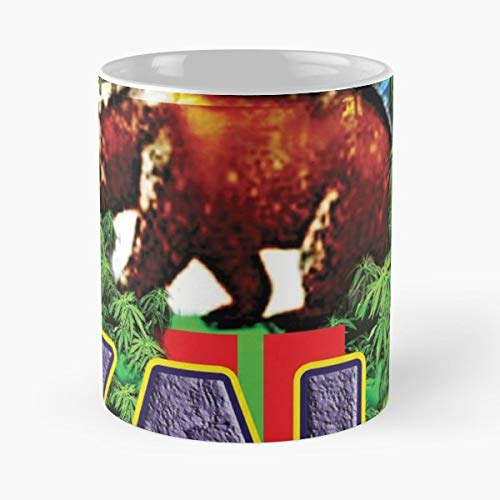 - Kush California Los Angeles Bear Purple Color Bud Hemp Leaf Grizzly - Coffee Mugs Unique Ceramic Novelty Cup Best Gift